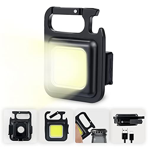 Pristar Mini LED Lámpara de Inspección Recargable 800 lúmenes Luz Mecánica Magnética Lámpara de Trabajo Portátil Linternas Pequeñas Impermeable para Reparación Campamentos Iluminación de Emergencia
