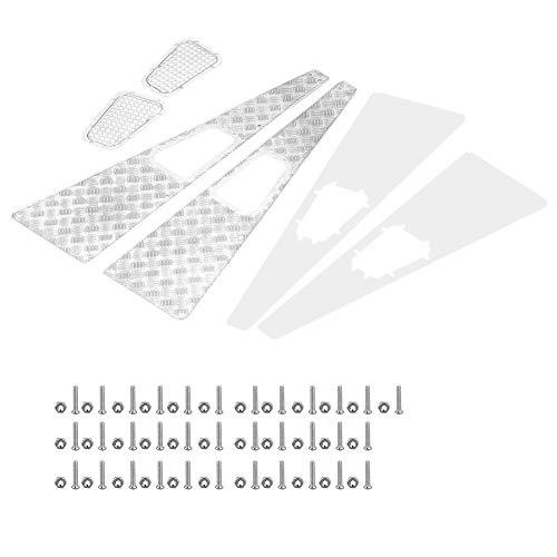 Ansauggitter, Metall-Antirutschplatte Ansauggitter RC Upgrade-Teil für Traxxas TRX-4 1:10 RC Car Crawler