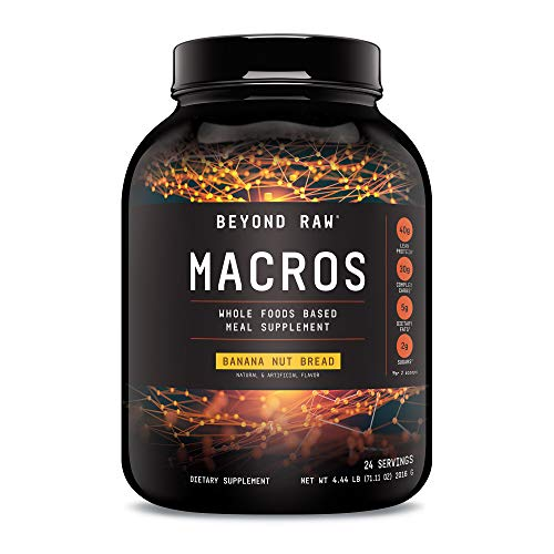 Beyond Raw Macros - Banana Nut Bread, 24 Servings, Meal Replacement with 40 Grams of Protein
