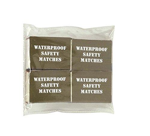 BKL1® 4 Packungen Streichhölzer Wasserfest Notzündhölzer EDC Prepper Survival 1432