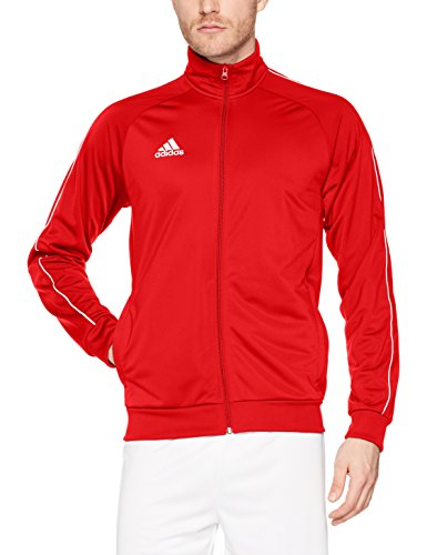adidas CORE18 PES JKT Sport jacket, Hombre, Power Red/ White, M