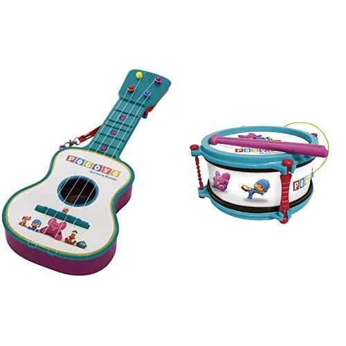 Pocoyó- Guitarra, Color Surtido (Claudio Reig 319.0) + Reig Tambor en Estuche (Claudio 318.0), Color 3 a 5 años (REIG318)