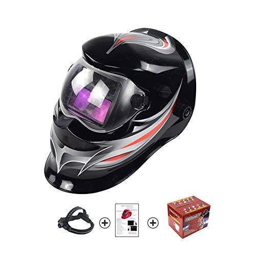 LYY Ajuste automático de la máscara de Soldadura fotoeléctrica, Gafas de Casco de Soldadura Ajustables solares, Amplio Rango de Sombras 4/9-13