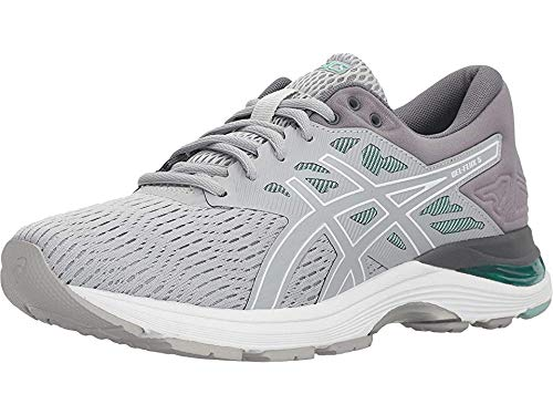 ASICS Women's Gel-Flux 5 Running Shoes, 7M, MID Grey/White/Opal Green