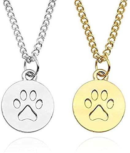 Yiffshunl Collar con Garra de Perro Simple Colgante de Animal Collar Redondo Opcional para Mascotas Regalo de San Valentín Regalos de joyería