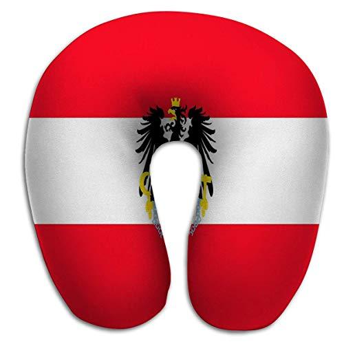 Almohada de Viaje Redonda en Forma de U para el Cuello/Cabeza Bandera Austria Color Paradise