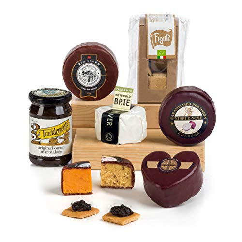 Hay Hampers Our Love Cheese Selection w Crackers & Chutney Hamper Box - Free UK delivery