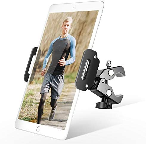 Elitehood All Metal iPad Holder for Spin Bike Gym Treadmill Exercise iPad Clamp Mount Tablet product image