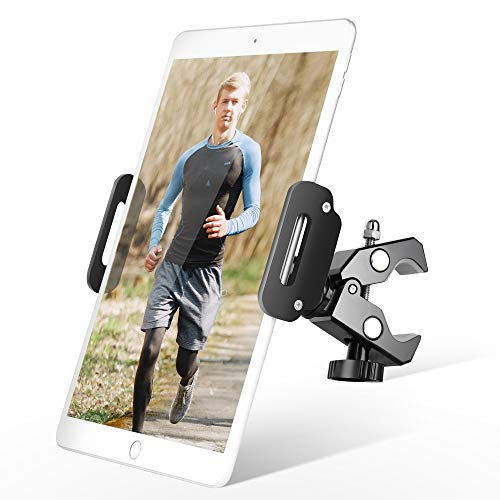 """Luxtude Metal Bike Tablet Holder, Tablet Holder Stand for Exercise Bike, Treadmill Stationary Bike Tablet Holder Mount for iPad Pro,iPad Mini, iPad,iPhone,Samsung, More 4.7-12.9"""" Tablets and Phones"""