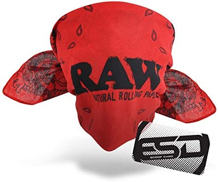 RAW Red Bandana Vibrant Bright Ultra Soft Knit from Supersoft Beachwood with Silky Appearance product image