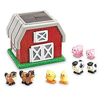 Learning Resources Hide-N-Go Moo Sensory Awareness Cognitive Function Farm Animal Toy 9 Pieces Ages 2+,Multi-color