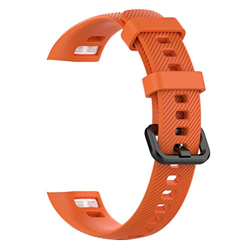 Silicone Watch Band Reemplazo de la brazalete Strap Huawei Honor Band 5 4 Pulseras de deportes suaves coloridas 1033 (Band Color : A orange)