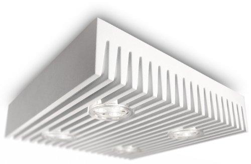 Philips Ledino LED-Deckenleuchte Row 4-flammig dimmbar 6 W, weiß 690673116