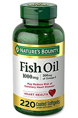 Nature's Bounty Fish Oil 1000 mg Coated Softgels 220 ea (packaging may vary)