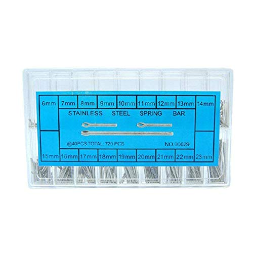 6-23mm Uhr Pins Qualitäts-Edelstahl-Uhrenarmband-Frühlings-Stab-Link-Pins-Uhr-Reparatur-Werkzeuge und Kits 360pcs / Box