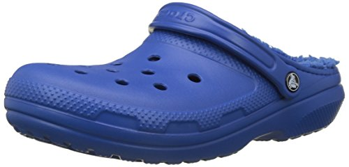 Crocs Mens and Womens Classic Fuzz Lined Clog Shoe | Great Indoor or Outdoor Warm and Fuzzy Slipper Option
