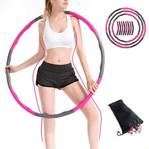 WOWDSGN Fitness Hula Hoop 8 Secciones Fácil de Montar y Desmontar Crestas onduladas Ejercita la Vida de Adultos y niños