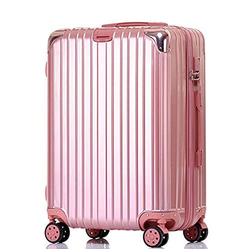 N\C Maleta con 4 ruedas de ajuste fino ABS Hard Shell Trolley Case, maleta portátil con tres cerraduras