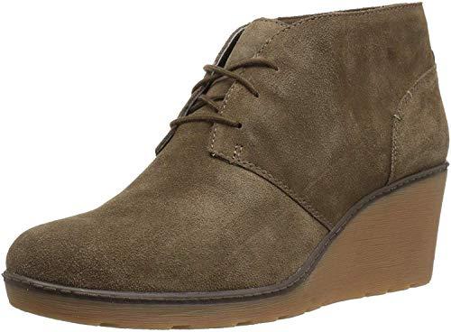 Clarks Women's Hazen Charm Fashion Boot, Olive Suede, 085 M US