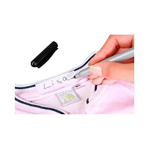 Wäschezeichner 102-tlg.Set Wäsche Namensschilder Wäschemarkierer Wäscheetiketten zum einbügeln Textilmarker
