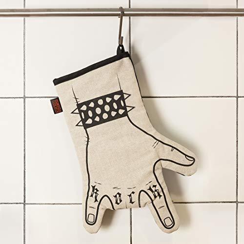 Guantone rock da cucina serigrafato a mano WE LOVE ROCK
