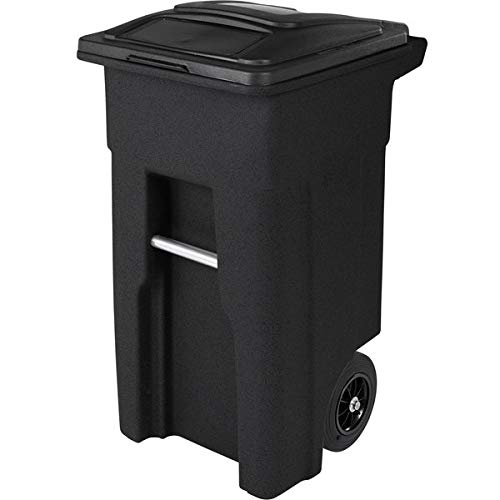 128 Qt. / 32 Gallon / 121 Liters Blackstone Rotational Molded Wheeled Rectangular Trash Can with Lid. Kitchen Garbage Can Office Trash Can Recycle Bin Waste Basket Touchless