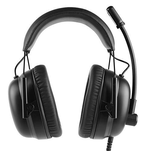 Casque de Jeu Virtual 7.1 Canaux USB Filaire Casque ENC Double Microphone Microphone Réduction de Bruit Casque-Black