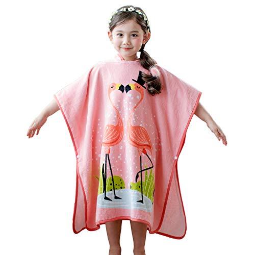 Kinder Bademantel Mädchen Badetuch mit Kapuze Baddecke Kinder Strandtuch Schwimmen Nachtwäsche 3-8 Jahre