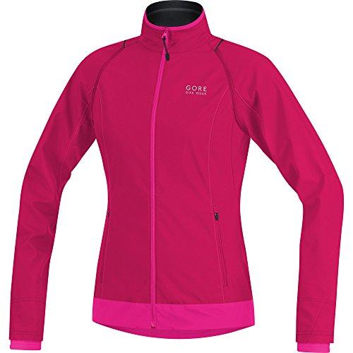 GORE BIKE WEAR 2 in 1 Women's Cycling Jacket, LADY Zip-Off Jacket, Size 38, Pink/Rose, JWLELZ