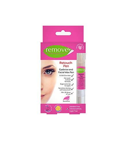 Remove Retouch Pen 4ml | Augenbrauen- und Gesichtswachs-Stift | Kaltwachs Enthaarung Streifen | perfekte Form | ohne Augenbrauen zupfen