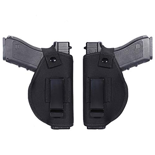 Anjilu 2 Pack Holster Universal Concealed Carry Holster Carry Inside or Outside The Waistband for Right and Left Hand Draw Fits Subcompact to Large Handguns