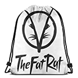 HOLEBUKL The Fat Rat Drawstring Bag Saca La Mochila Cuerda Unisex con Bolsas Zapatos para Deporte Gimnasio Senderismo Bicicleta Nadar