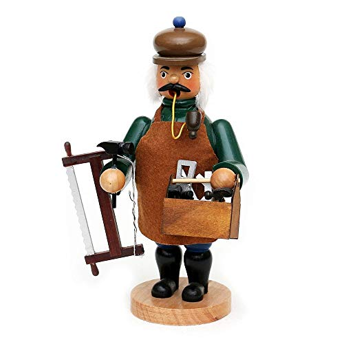 Wichtelstube-Kollektion Holz Räuchermann Räuchermännchen Räucherfigur Tischler 11,5 x 11 x 20 cm