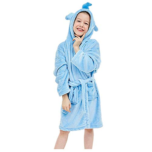 ZHANG badjas, fleece badjas olifant met capuchon, pluizige ochtendjas
