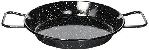 La Ideal Poêle à Paella en Acier émaillé, Noir, 24cm
