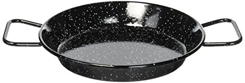 La Ideal Paellera (Acero esmaltado, 24 cm), Metal, Negro, 12 Pack
