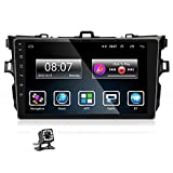 Podofo Car Stereo Android 9.0 Navigation Car Radio 9'' Touchscreen for Toyota Corolla 2007-2012 Double Din Head Unit in-dash Bluetooth, WiFi, GPS Navi, FM, Dual USB, Mirror Link+Backup Camera (2G+32G)