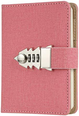 Lock Journal Combination Password Writing Travel Diary A7 Mini Notebook product image