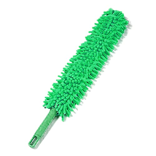 COLiJOL Car Duster Bendable Microfiber Duster Household Dusting Brush Cars Cleaning Kitchen Accessories Duster (Color : Pink, Size : 57X6.5Cm),Green a,57X6.5Cm