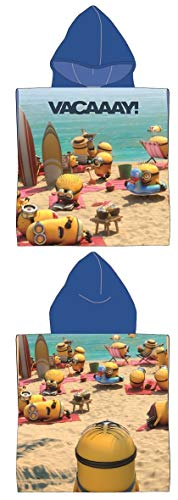 Stamion Mädchen Art. No. Un09115r_1, Minions Micro Terry Ponchos Reactive Print Top, Mehrfarbig (Multicolour Multicolour), One Size