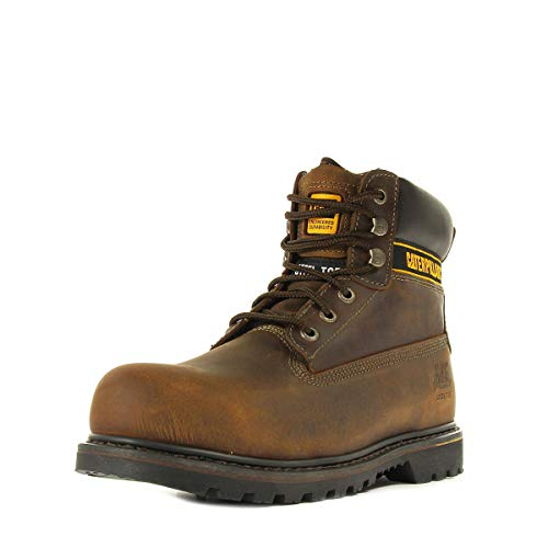 Cat Footwear Holton, Calzado de protección Hombre, Marrón Oscuro, 39 EU 🔥