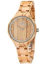 I campioni e le immagini reali hanno una piccola differenza di colore, perché è il legno ecologico originale, vi prego di capire Guarda caso Diametro:1.4inch,altezza della vigilanza: 0.4inch, braccialetto pieghevole: 3.9inch orologio non è impermeabi...