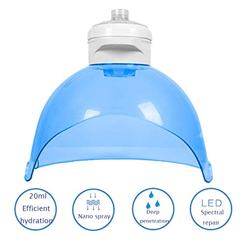 XISURE 4 in 1 Facial Steamer, Hydrogen Oxygen Mask,Best Effect Anti-Oxidation Beauty Atomizer, LED Face Skin Care Light Spectrum Instrument Skin Management Equipment,Daily Skin Hydration