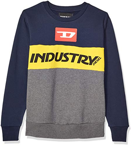 Diesel Herren Willy Sweat-Shirt Pyjama-Oberteil (Top), Dunkelgrau gemischt, Groß