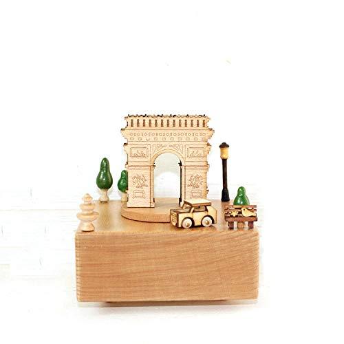 PZAIQ Escultura Inicio Creativo Carrusel Manualidades Amante Regalo Triunfal Arch Music Box