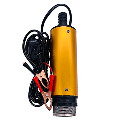 SM SunniMix Bomba de agua, Bomba de combustible Bomba sumergible de aleación de aluminio con clip, Cable de alimentación de 3 metros, Alcance de, 24 V 38 mm