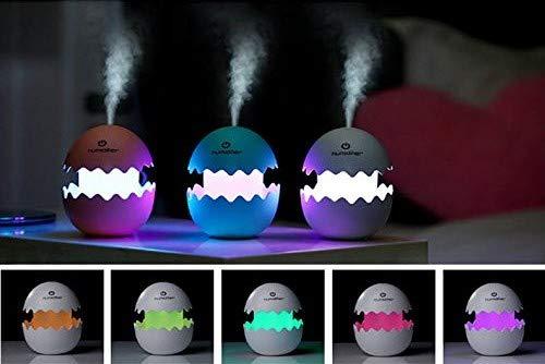 Luz infantil nocturna quitamiedos - lámpara ambiental led con Humidificador ultrasónico - difusor de aceites esenciales para Aromaterapia (Rosa)