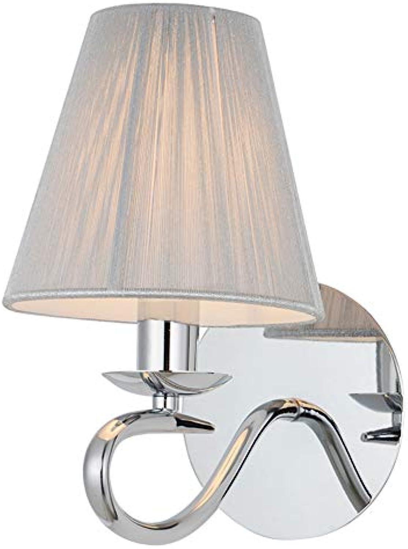 Amerikanische Stil Wand Lampe Kreatives Haus Indoor-Wand Lampe Chrom PVC-Tuch Deckel Wand Lampe Wohnzimmer Hotel Schlafzimmer Enthlt Keine Lichtquelle