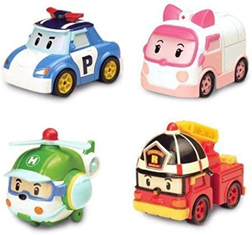 Robocar Poli Diecasting Set   Poli, Roy, Amber, Helly (Non-transformer)