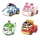 Robocar Poli Diecasting Set : Poli, Roy, Amber, Helly (Non-transformador)